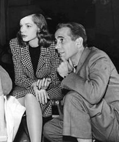 Bogie and Bacall on the set of The Big Sleep