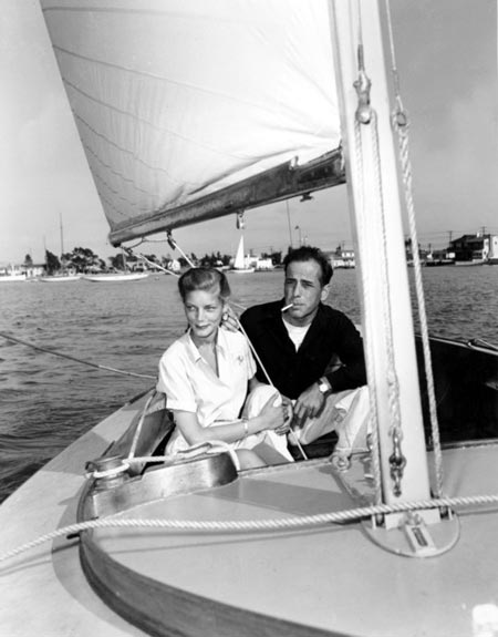 newlyweds Bogie and Bacall on boat in June 1945