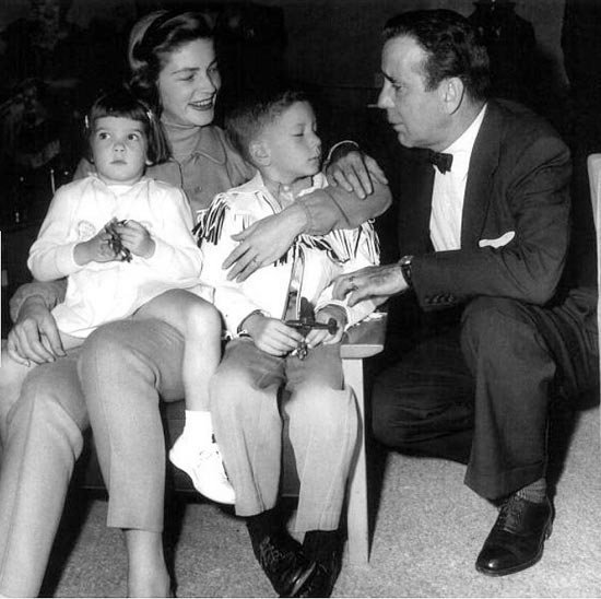 Bogie and Bacall with their two children