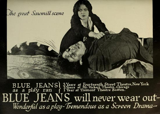 Blue Jeans 1917 Viola Dana, Robert Walker, the Great Saw Mill Scene