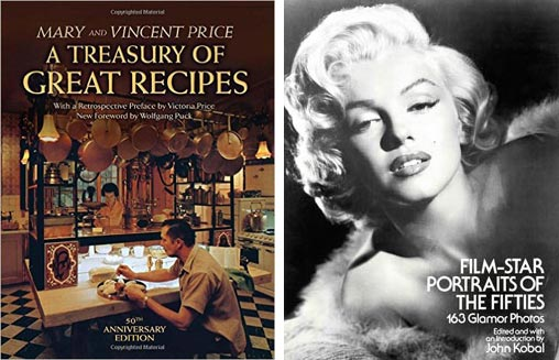 Film-Star Portraits of the Fifties and A Treasury of Great Recipes courtesy of Dover Publications