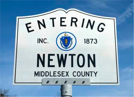 entering newton massachusetts