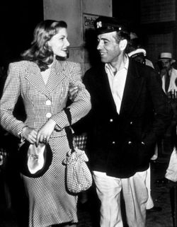 Bogart and Bacall on the set of To Have and Have Not