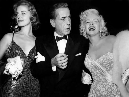 Bogie and Bacall At the Premiere of How to Marry a Millionaire (1953) with Marilyn Monroe
