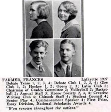 Francis Farmer High School Year Book