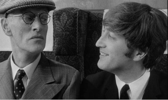 A Hard Day's Night, John with Paul's Grandfather