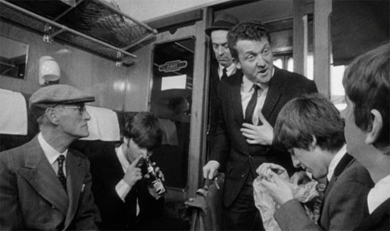 A Hard Day's Night, John Lennon sniffs coke bottle
