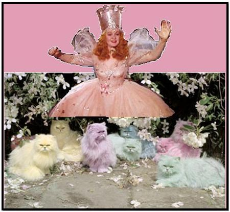Billie Burke the Good Witch and cats