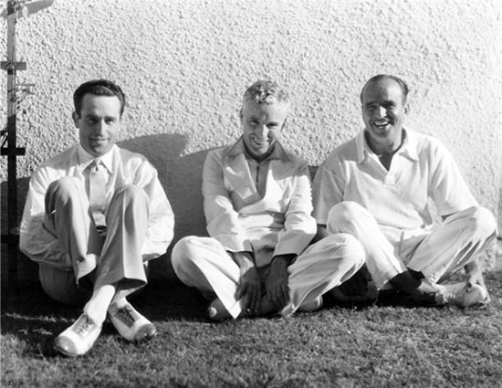 Harold Lloyd, Charlie Chaplin and Douglas Fairbanks