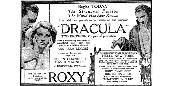 dracula advertisement for 1931 movie