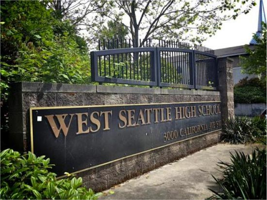 Francis Farmer's alma mater, West Seattle High School ,  at 3000 California Ave SW, Seattle.