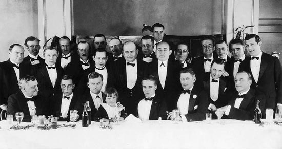 Inaugural meeting of the Independent Screen Artists' Guild, Ambassador Hotel, Los Angeles, December, 1921 with Chaplin, Keaton and more