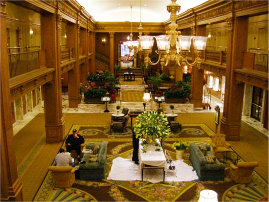 The Olympic Hotel in Seattle in now the historic Fairmount Olympic Hotel, interior