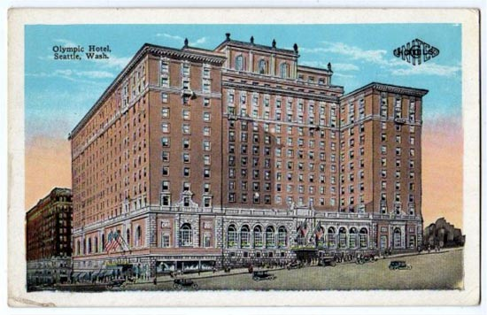 The Olympic Hotel in Seattle in now the historic Fairmount Olympic Hotel, located at 411 University St, Seattle. Francis  Farmer's film Come and Get It was housed here. Later in life, Farmer worked at the hotel, tasked with sorting laundry.