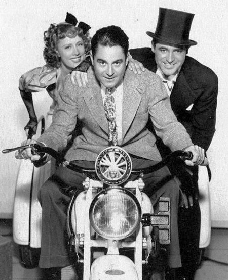 Director Leo McCarey, Irene Dunne and Cary Grant promoting The Awful Truth 1937