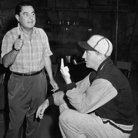 Director Leo McCarey on the set of Going My Way with Bing Crosby 1944