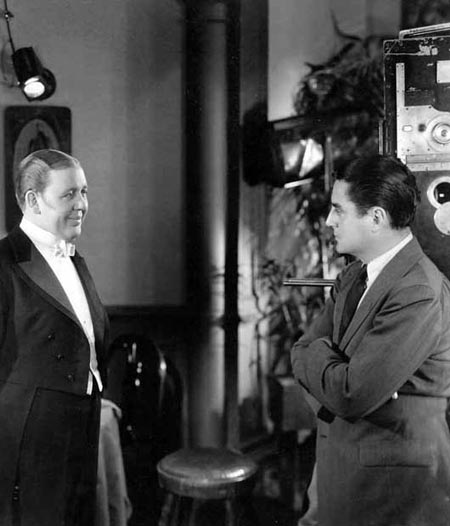 Director Leo McCarey on the set of Ruggles of Red Gap with Charles Laughton 1935