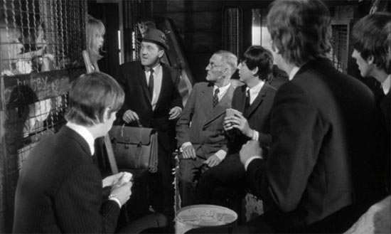 A Hard Day's Night, baggage compartment scene