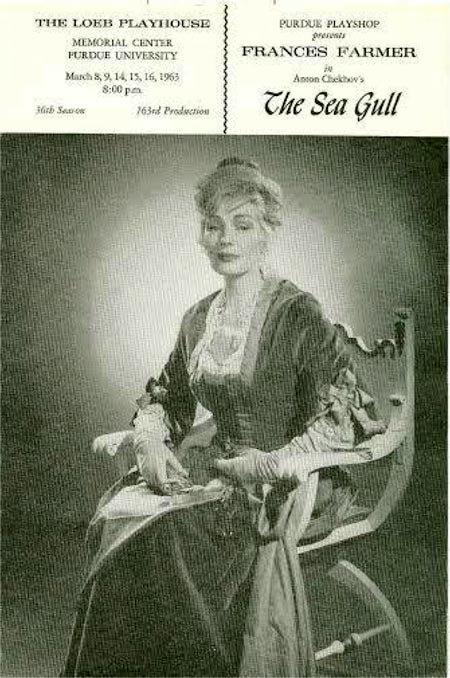 Francis Farmer Playbill for The Sea Gull, Purdue University