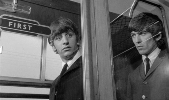 A Hard Day's Night, Ringo and George on Train