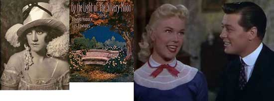 Lillian Lorraine and Doris Day and Gordon MacRae, By the Light of the Silvery Moon