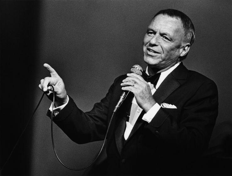Singer Frank Sinatra in Concert