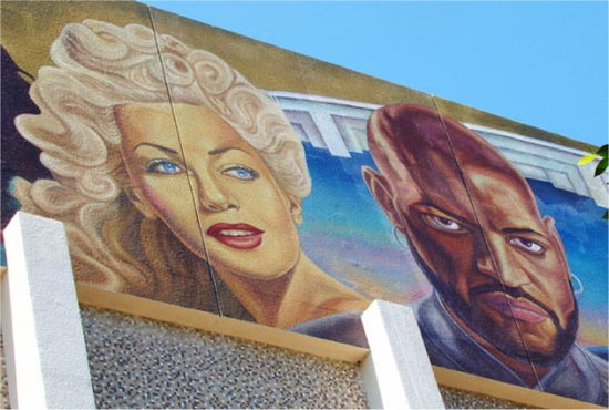 hollywood high school mural