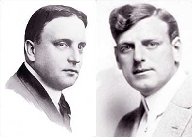 George K. Spoor (left) was a showman and early motion picture distributor. Gilbert M. Anderson (right) was an actor/director who got his start in motion pictures with the Edison Film Company and Vitagraph. Together, Spoor and Anderson formed the Essanay Film Manufacturing Company in 1907. Photos courtesy of the Niles Essanay Silent Film Museum.