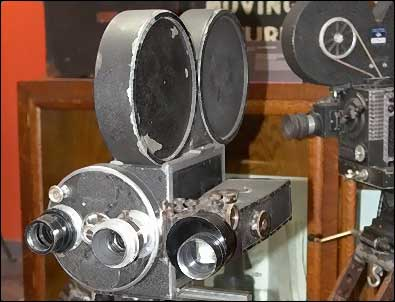 Tools of the trade: Hand-cranked cameras from the early days of motion pictures. Photo: HPO collection.