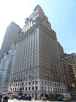 The former Hotel St. Moritz building, today Ritz-Carlton New York, Central Park