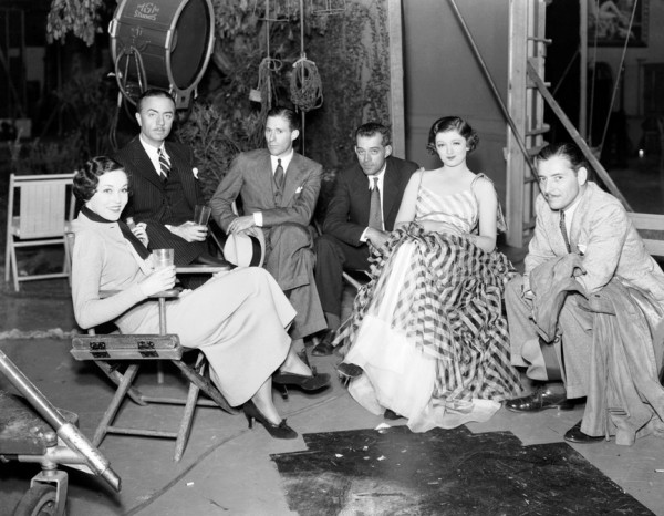 Maureen O'Sullivan, William Powell, W.S. Van Dyke, Unknown, Myrna Loy, Ronald Colman on the set of The Thin Man 1934