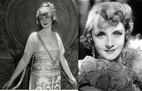 Billie Burke in 1918 when she was married to Ziegfeld and Billie in the late 1930s during the height of her career as a character actress.