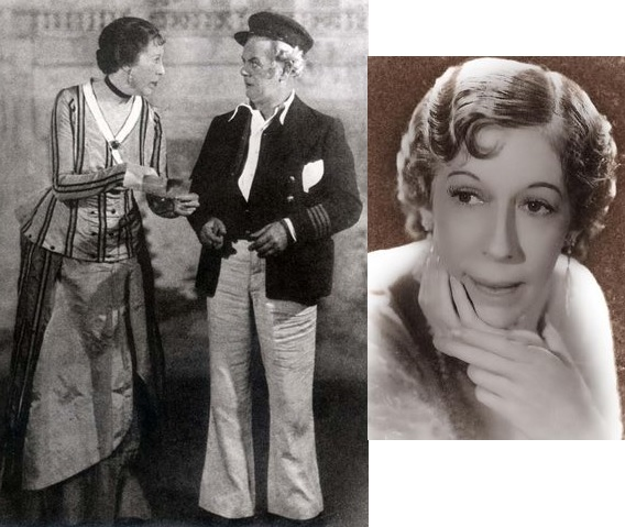"Charles Winninger and Edna May Oliver in ""Show Boat"" and a portrait of Edna in the early 1930s."