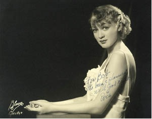 Eve Arden as a young actress on Broadway.