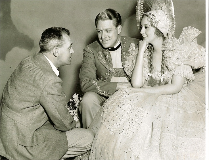 Filming of Sweethearts - Woody Van Dyke, Nelson Eddy and Jeanette MacDonald