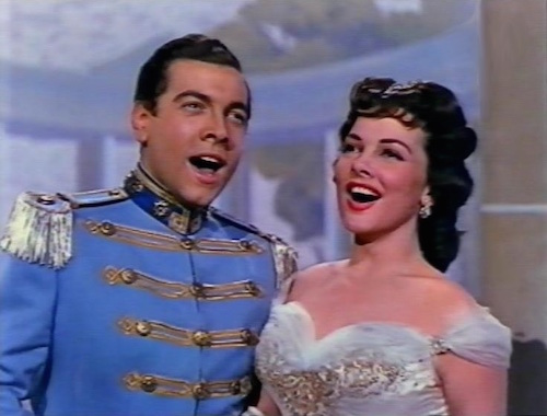 "Mario Lanza and Kathryn Grayson sing together in ""The Toast of New Orleans"""