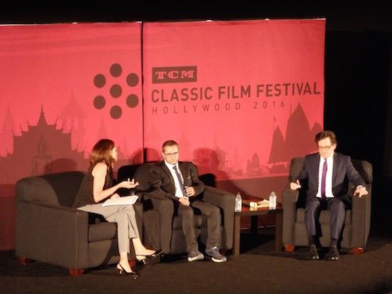 Ben Mankiewicz interviews actor Salvatore Cascio at the Cinema Paradiso screening; photo credit: Annmarie Gatti for Classic Movie Hub; (c) 2016 Classic Movie Hub