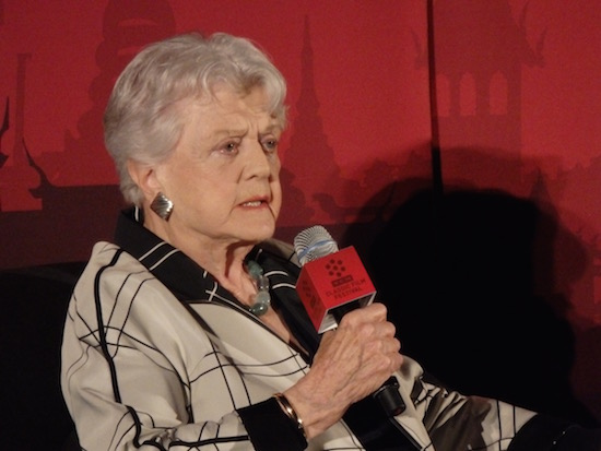 Angela Lansbury introduces The Manchurian Candidate at the 2016 TCMFF; photo credit: Annmarie Gatti for Classic Movie Hub; (c) 2016 Classic Movie Hub