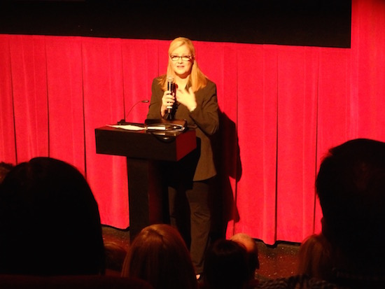 Bonnie Hunt introduces Midnight at the TCMFF 2016; photo credit: Annmarie Gatti for Classic Movie Hub; (c) 2016 Classic Movie Hub