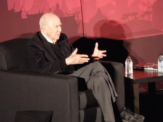 Carl Reiner talks at the TCMFF 2016 Classic Film Festival; photo credit: Annmarie Gatti for Classic Movie Hub; (c) 2016 Classic Movie Hub