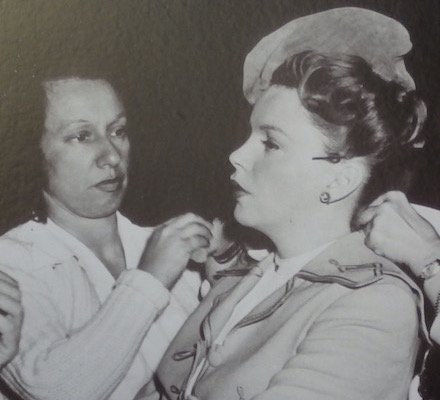 Dottie Ponedel makeup artist with Judy Garland