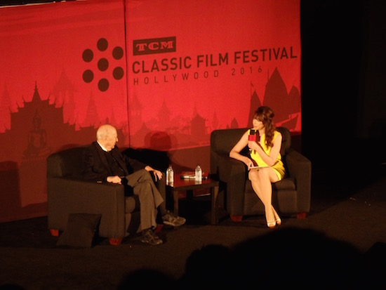Illeana Douglas interviews Carl Reiner at TCMFF 2016 at screening of Dead Men Don't Wear Plaid; photo credit: Annmarie Gatti for Classic Movie Hub; (c) 2016 Classic Movie Hub