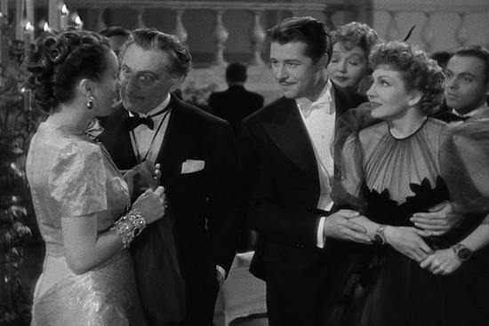 Mary Astor, John Barrymore, Don Ameche, Claudette Colbert in Midnight