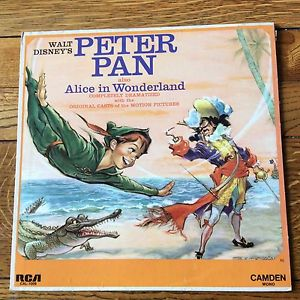 walt disney peter pan and alice in wonderland record
