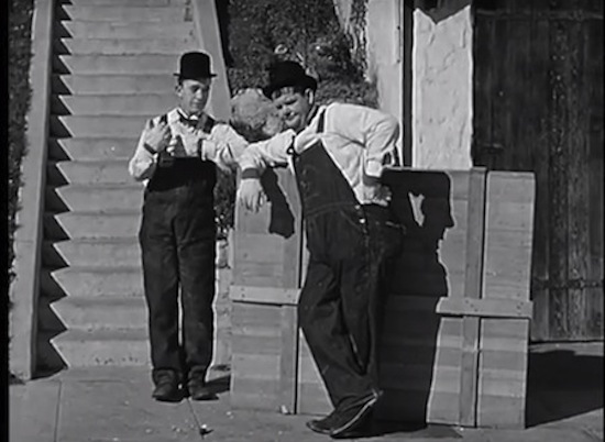 Laurel and Hardy, The Music Box 1932, music box steps