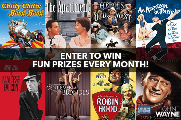 Join the Classic Movie Hub Club for your chance to win these fun DVDs
