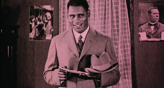 Paul Robeson as Sylvester in Oscar Micheaux's Body and Soul (frame enlargement), courtesy Kino Lorber