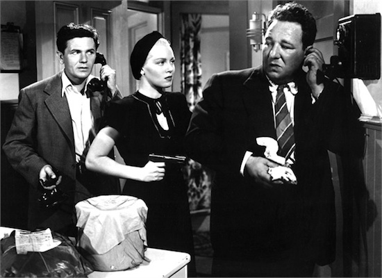 Alan Reed, Lana Turner and John Garfield in The Postman Always Rings Twice 1946