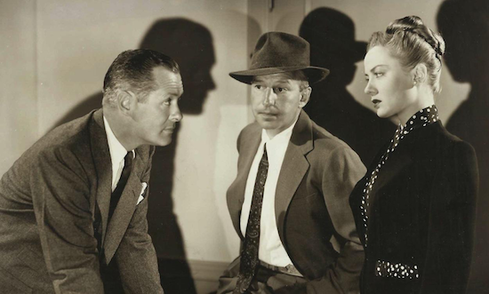 Lady in the Lake, A publicity still of Montgomery, Nolan, and Totter.