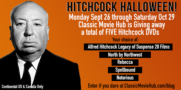 Classic Movie Hub Hitchcock Halloween DVD Giveaway